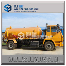 China Shacman Aolong 4X2 10000L Vacuum Sewage Suction Truck with Vacuum Pump for Sucking Waste